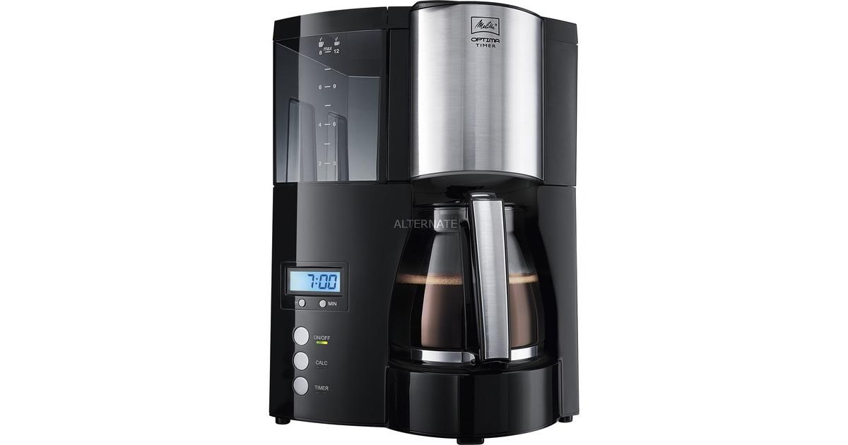Melitta Optima Glass Timer Black Filter Coffee Machine